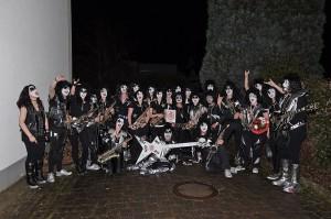 KISS 2014 (Bühnenoutfit im Rahmen der Karnevalssession 2014)